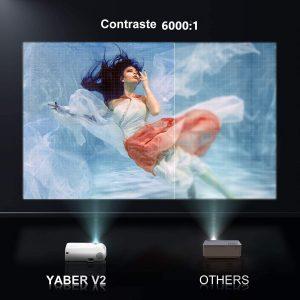 vidéoprojecteur wifi Bluetooth Yaber
